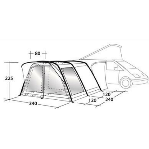 Outwell Country Road Smart Air Tall Driveaway Awning (2018 Edition) - Quality Caravan Awnings