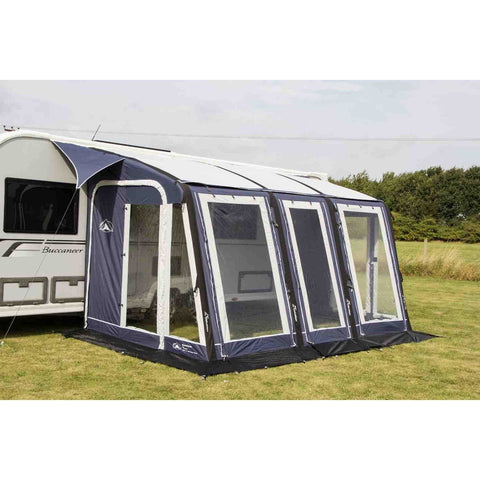 Image of Sunncamp Ultima Air Super Deluxe 390 Blue Air Awning SF7887 - Quality Caravan Awnings