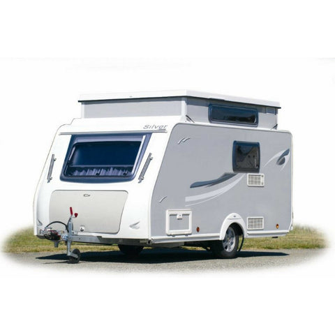WALKER Fusion 240 + Curtains + Alloy Frame for Trigano Silver (2018) + Free Storm Straps - Quality Caravan Awnings