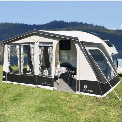 Image of Walker Adria Action 391 PD/PH Caravan Awning (2019) + Free Storm Straps