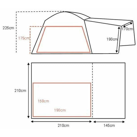Khyam Motordome Tailgate Driveaway Awning 110305 made by Khyam. A Drive-away Awning sold by Quality Caravan Awnings