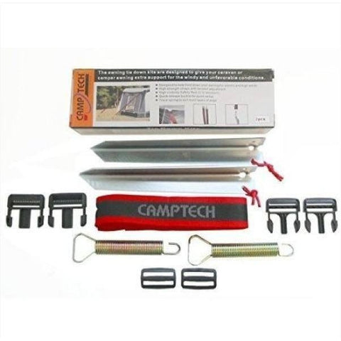 Image of Camptech Tech Line Secure Straps Tie Down Kit (set of 2) SL500 (2019) made by CampTech. A Accessories sold by Quality Caravan Awnings