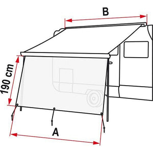 Fiamma Sun View XL Front Panel made by Fiamma. A Accessories sold by Quality Caravan Awnings