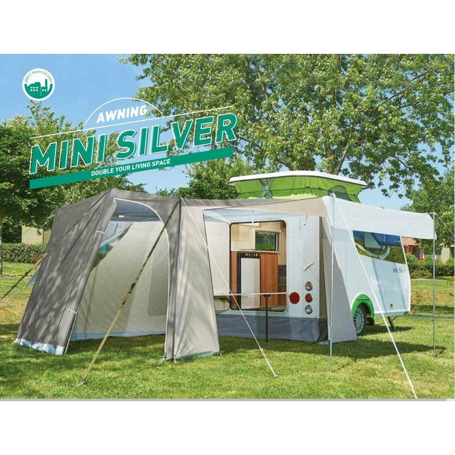 Trigano Mini Silver Awning for Pop Up Caravans