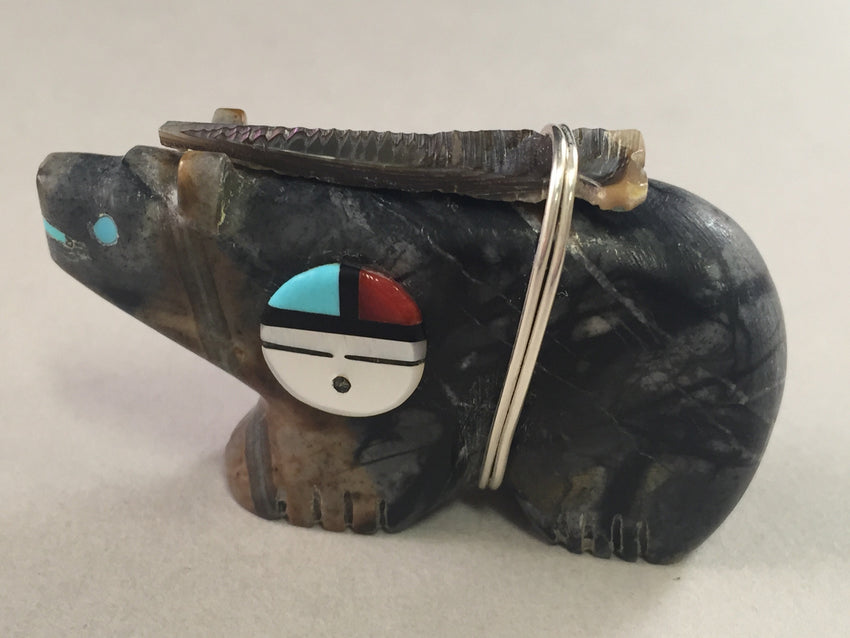Zuni Animal Fetish Bear Carved from Jasper by Darrin Boone