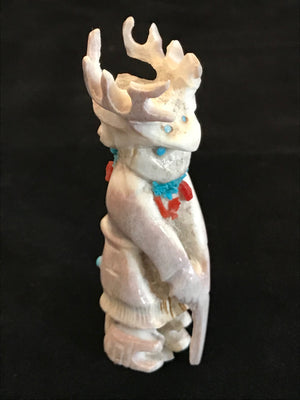 Zuni Deer Dancer Carved from Antler by Michael Lahaleon