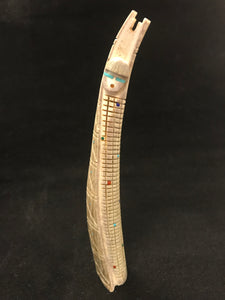Zuni Corn Maiden Carved from Antler by Eugene Bowekaty