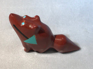 Zuni Animal Fetish Coyote Carved from Pipestone by Bennie Bacy