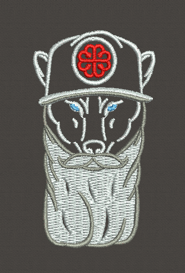 Bearded Wolf Ball Cap