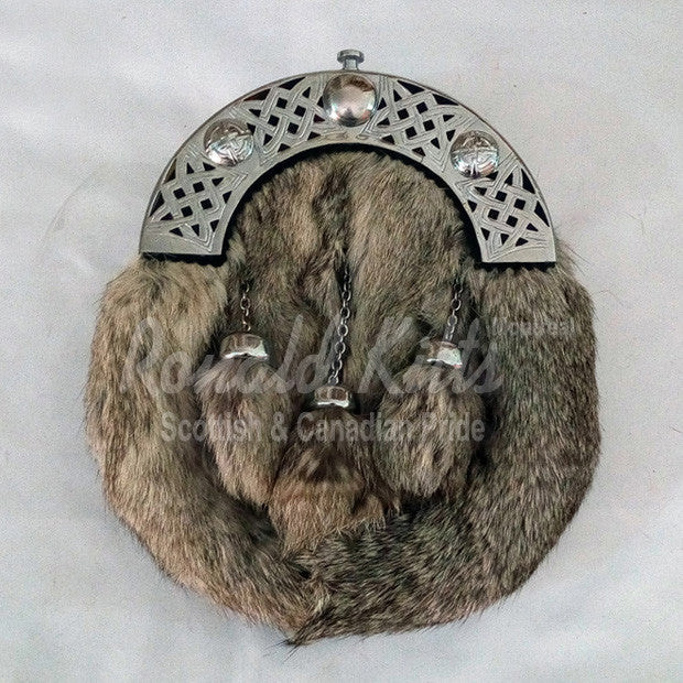 Grey Rabbit Fur Sporran