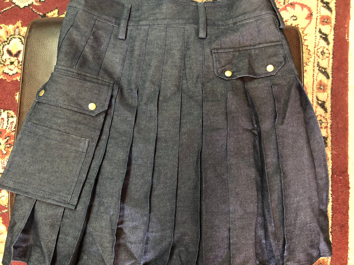 Limited Edition Denim Utility Kilt