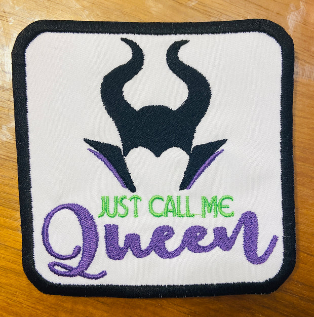 Maleficent Just Call me Queen Patch
