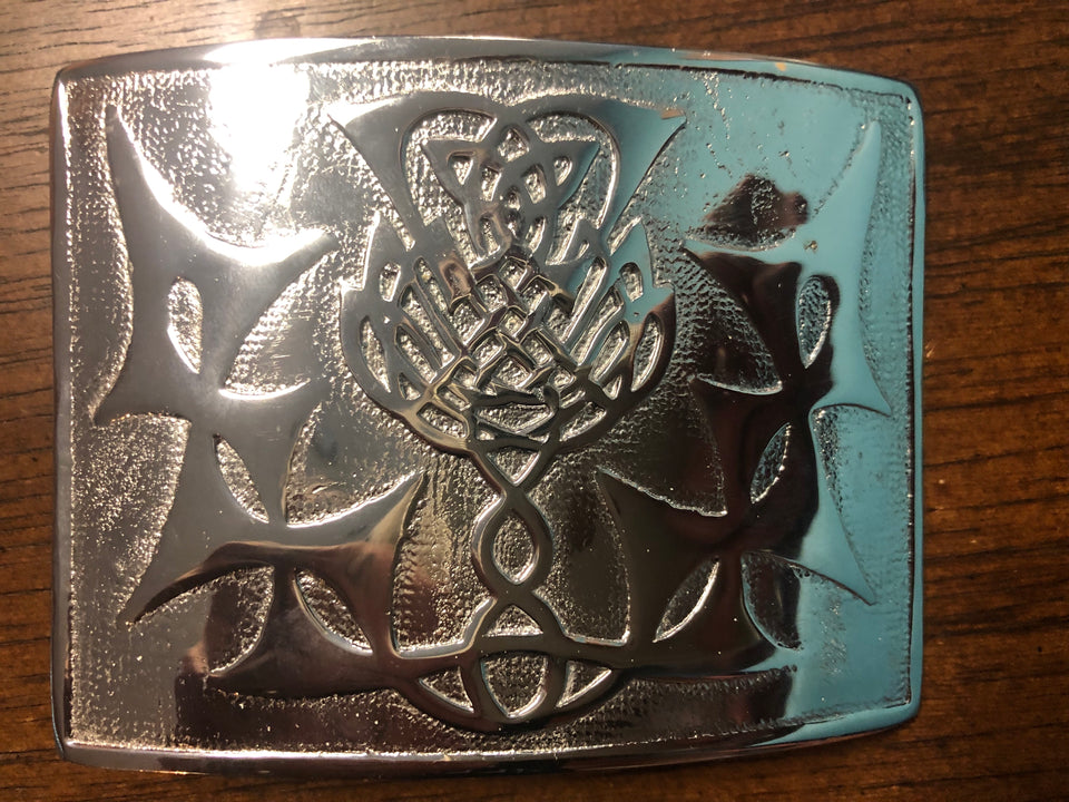 Scottish Thistle belt buckle