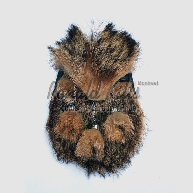 Genuine full fox fur sporran
