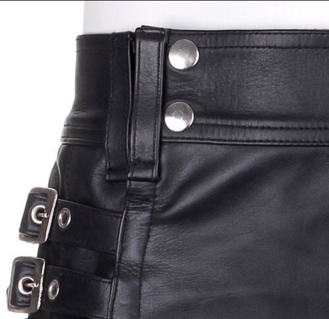 Leather Utility Kilt - SPECIAL ORDER 2 weeks
