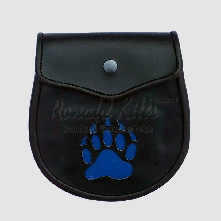 Leather Bear Paw cutout Sporran