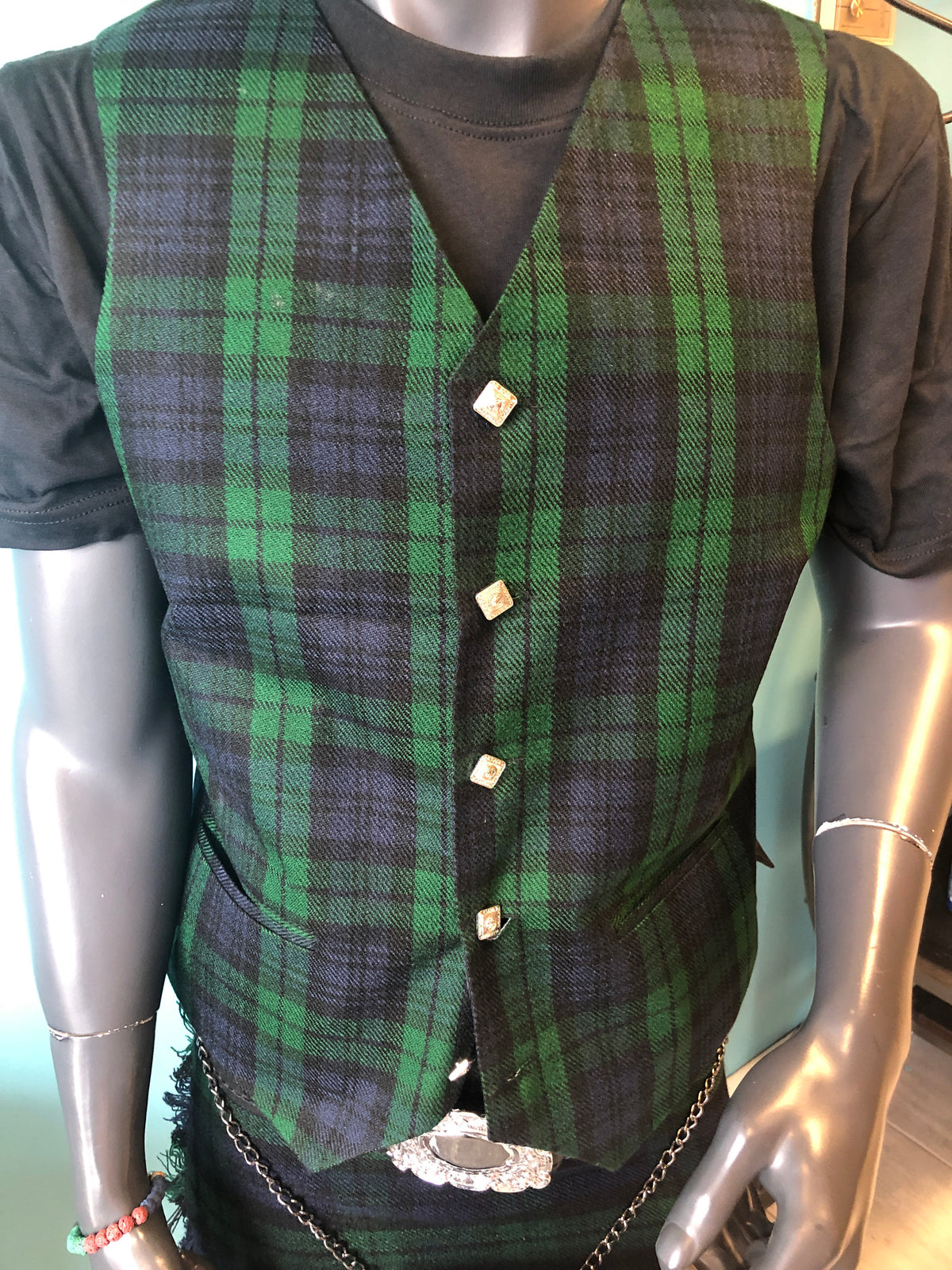 Scottish Tartan Vest-SPECIAL ORDER 2 Weeks. Indicate which tartan at checkout notes