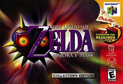 Used-The Legend Of Zelda: Majora's Mask (Gold w/ Holographic Label-Cartridge Only)