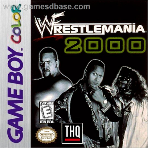 Used-Wrestlemania 2000 (GameBoy Color) Cartridge Only
