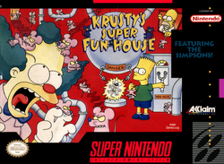 Used-The Simpson's: Krusty's Super Fun House (Cartridge Only)