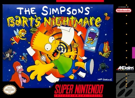 Used-The Simpson's: Bart's Nightmare (Cartridge Only) (Some writing and stickers on cartridge)