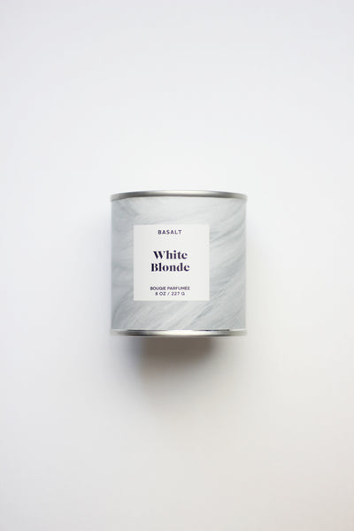 basalt white blonde candle