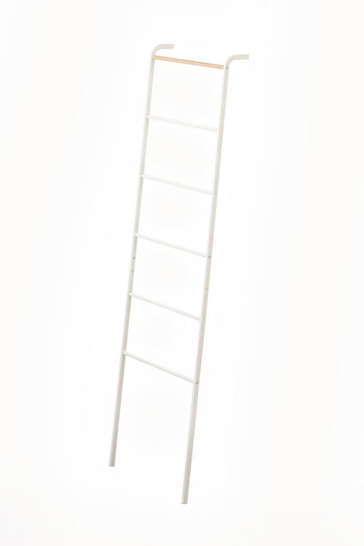 tower leaning ladder hanger white