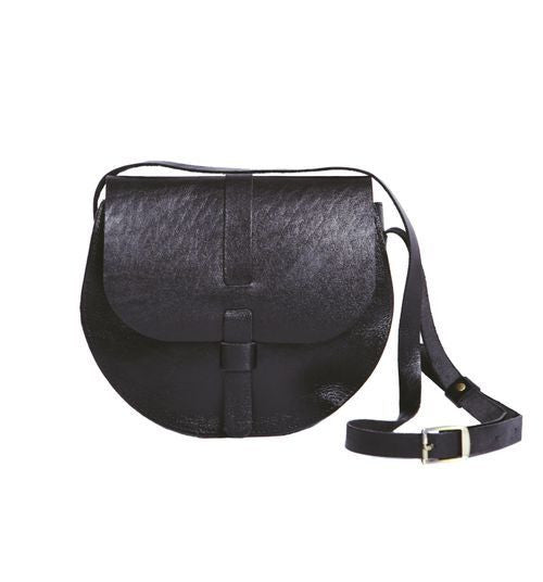 Crossbody Bag Leather Black