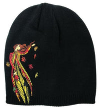 Leaf Dancer - Embroidered Knit  Hat - Maxine Noel