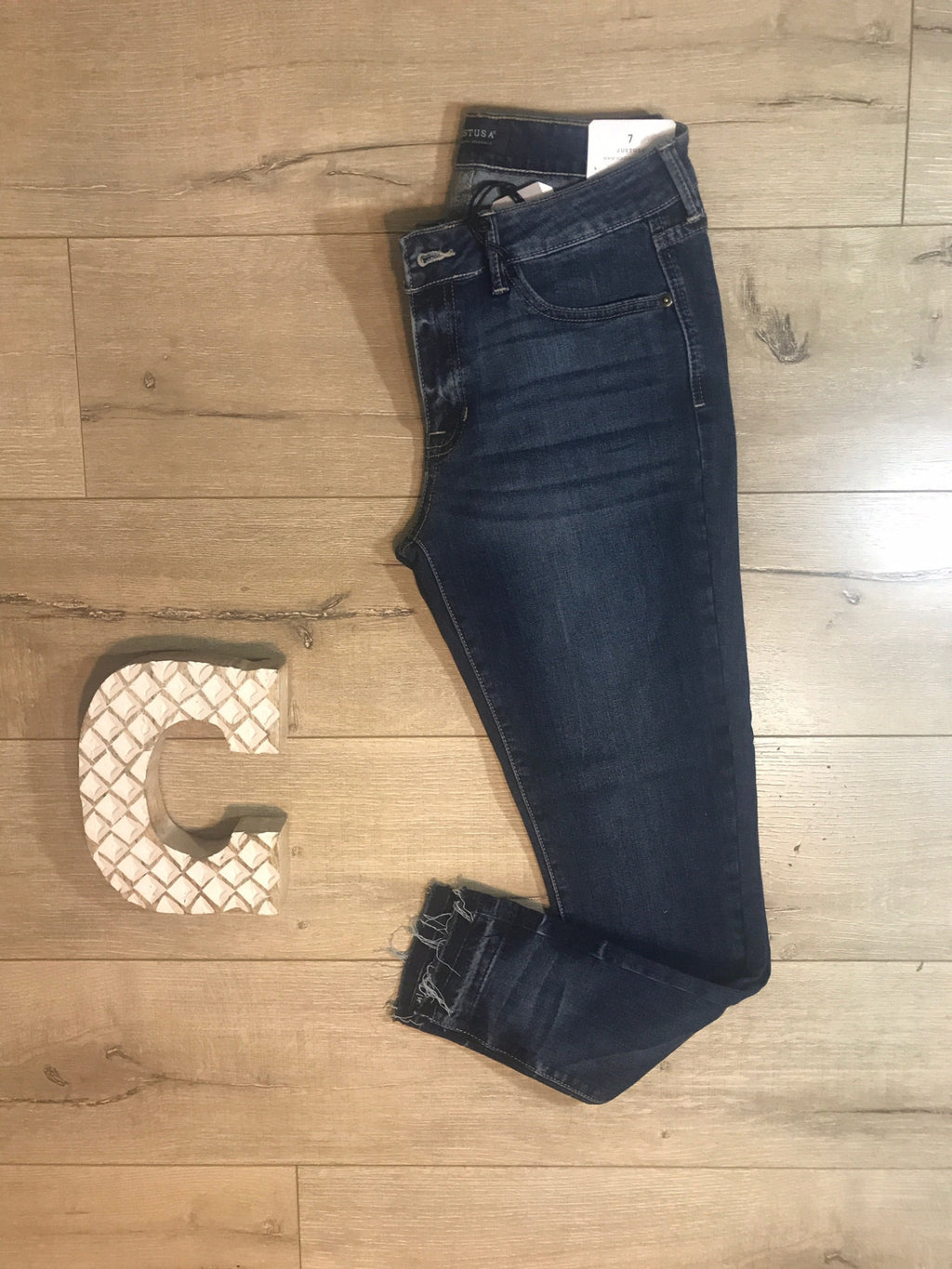 Released Hem Cropped Jeans
