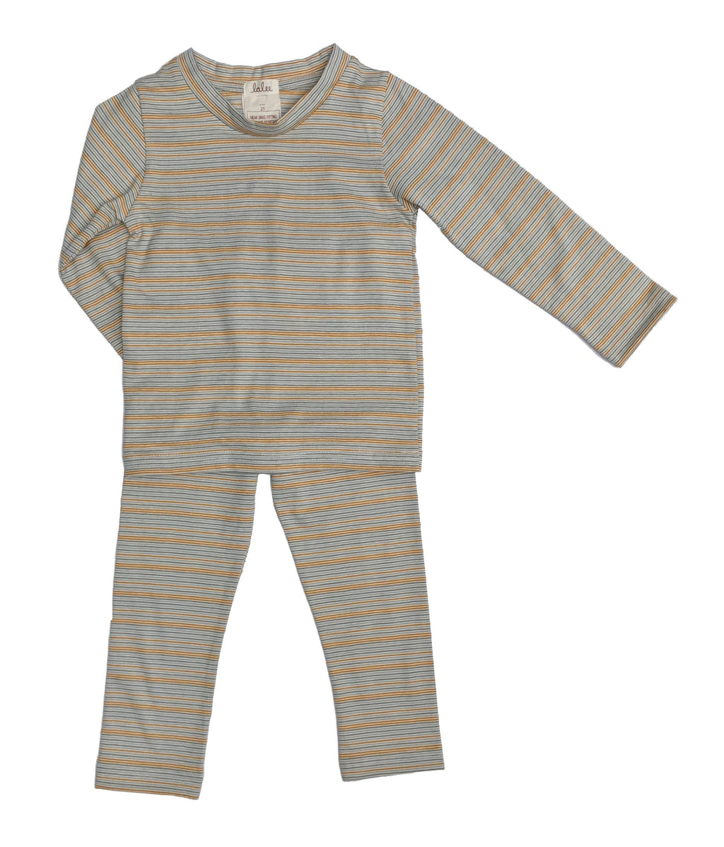 Organic Cotton Pajamas Set - Multistripe