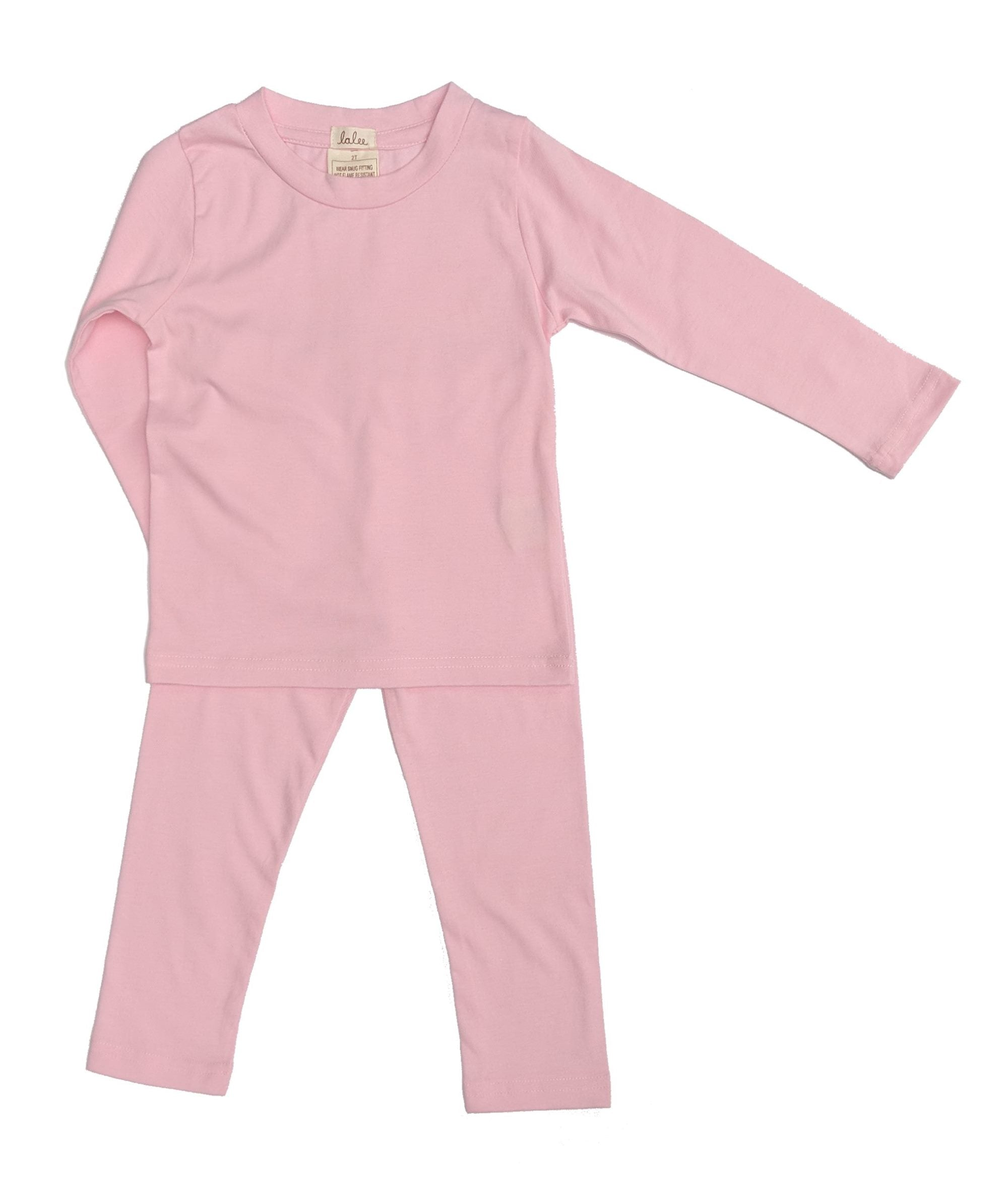 Organic Cotton Pajamas Set - Pink