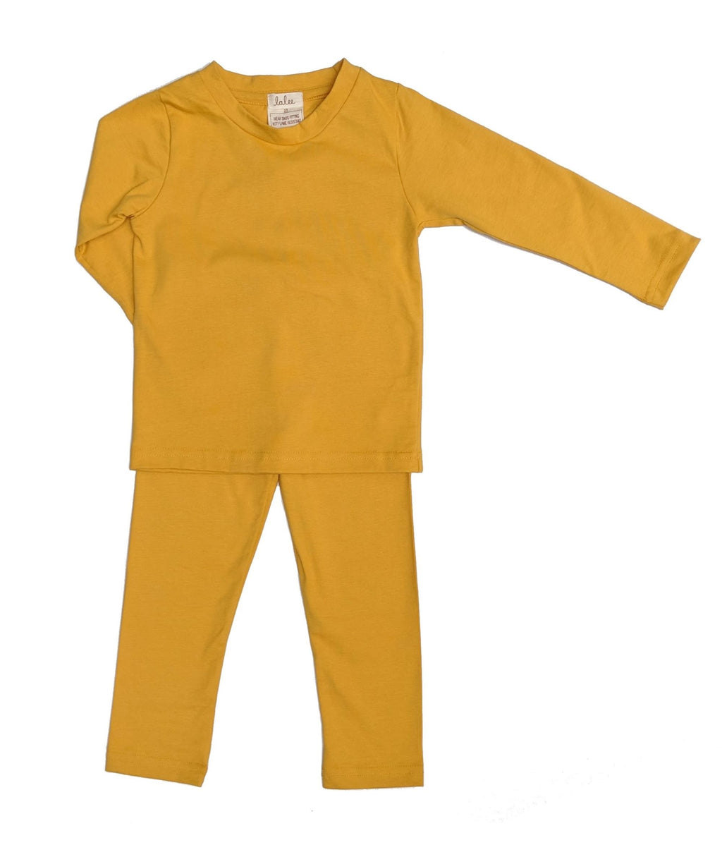 Organic Cotton Pajamas Set - Yellow