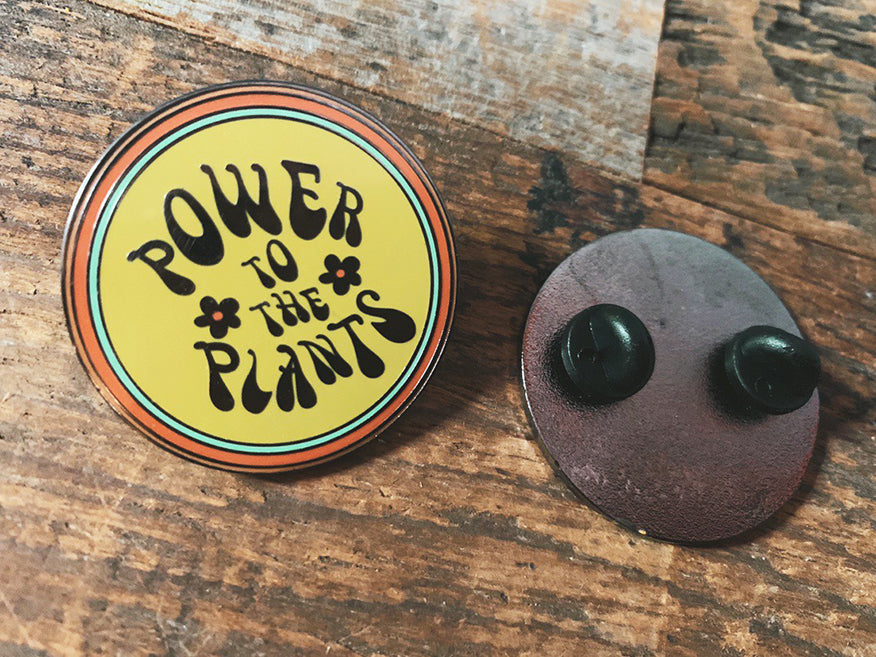 Retro Plant Power Enamel Pin