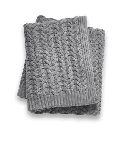 Cashmere Grey Throw