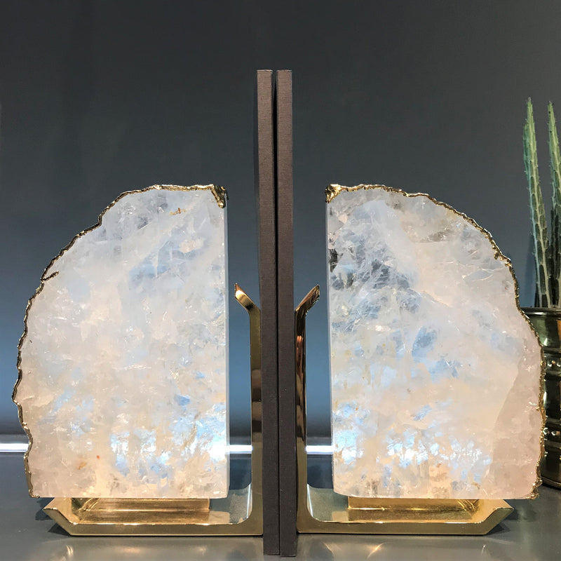Anna by RabLabs bookend Clear Quartz Bookend