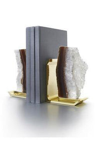 Anna by RabLabs bookend NATURAL DRUZE BRASS BOOKEND