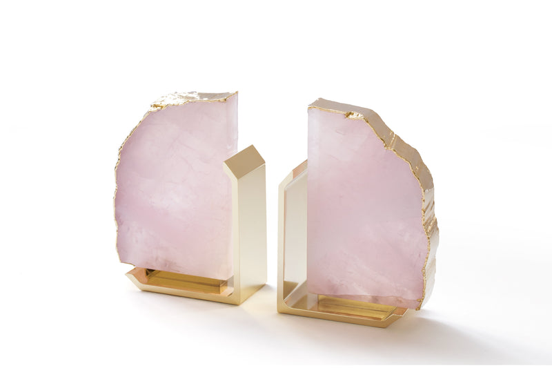 Anna by RabLabs bookend Rose Quartz Bookend