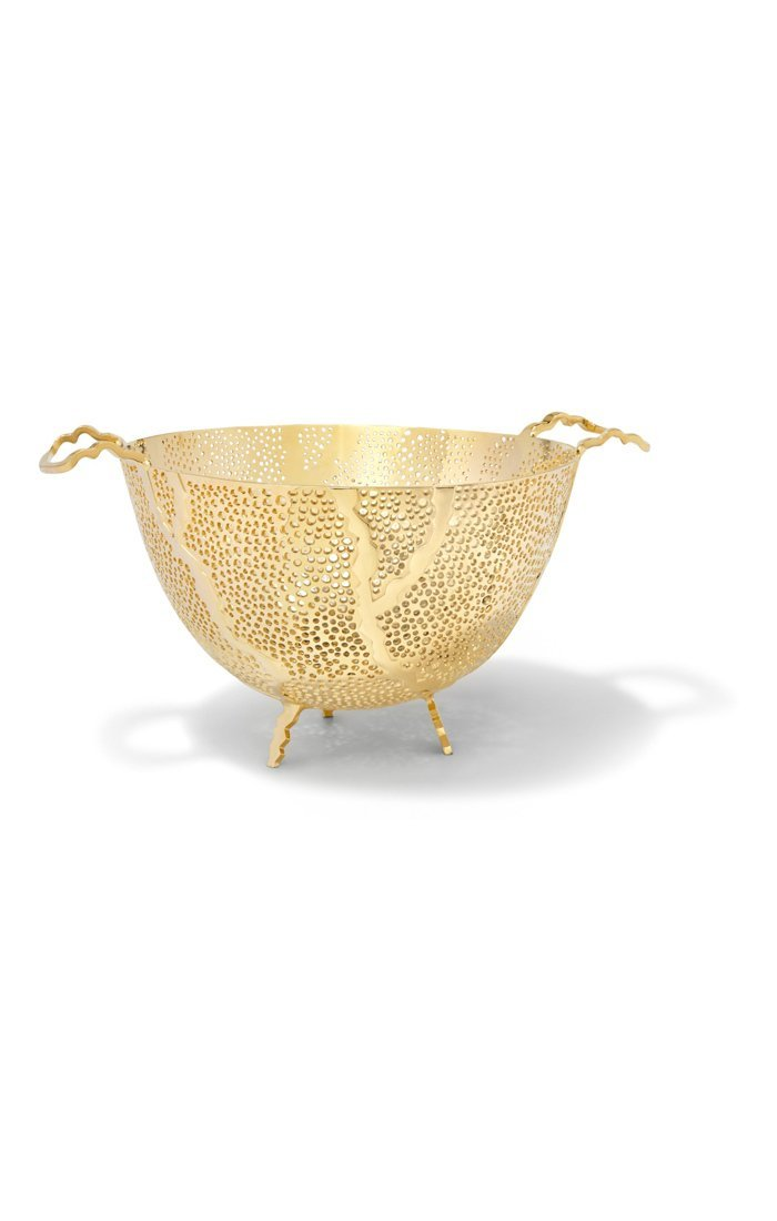Anna by RabLabs Bowl Gold Fruit Bowl