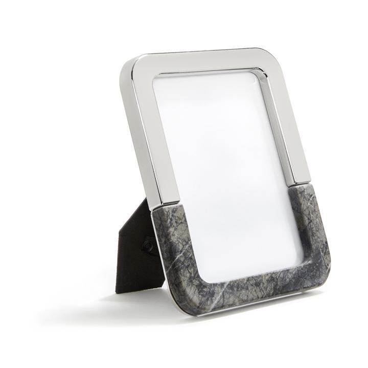 Anna by RabLabs Picture Frame Carnico Marble Silver Picture Frame