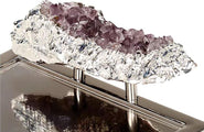 Anna by RabLabs Serving Tray Amethyst | Heritage Crystal Tray
