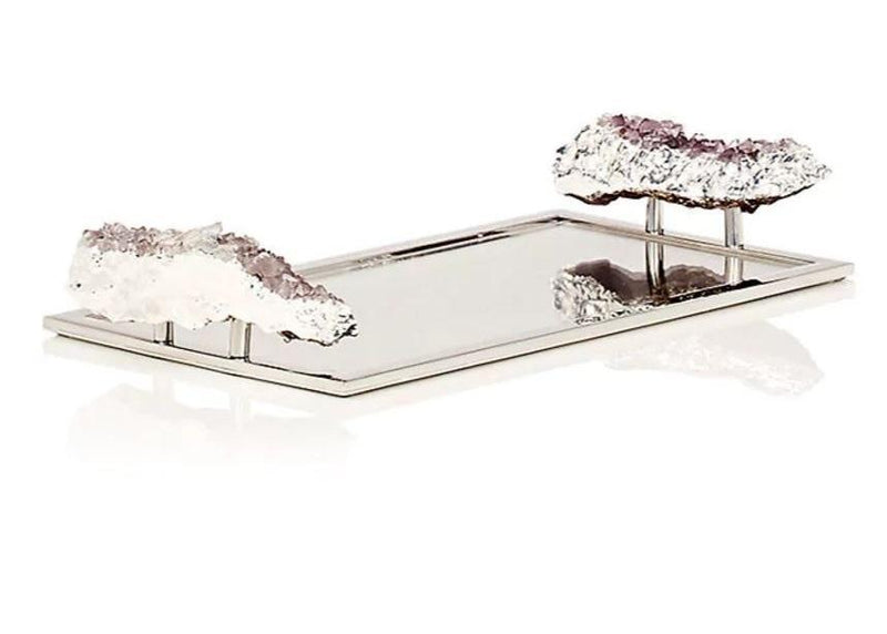 Anna by RabLabs Serving Tray Medium Amethyst | Heritage Crystal Tray