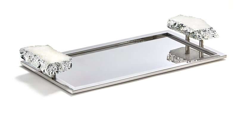 Anna by RabLabs Serving Tray Medium / Silver Crystal | Heritage Tray