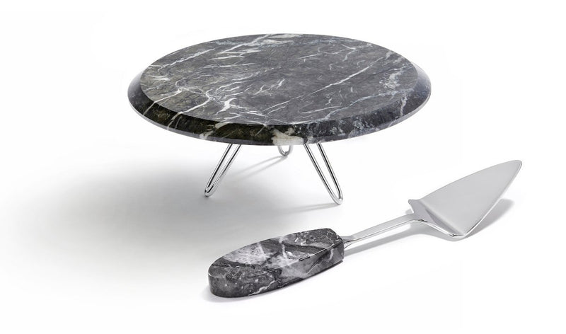 Anna by RabLabs Table Top Marble Cake Stand & Server