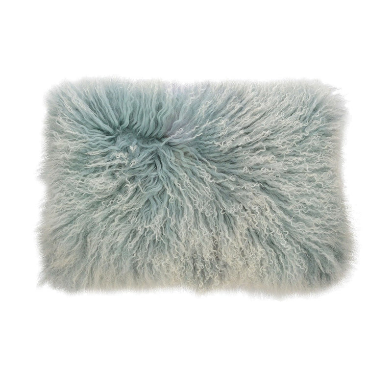 Aviva Pillow DOUBLE DIPPED MONGOLIAN FUR IN CINDER