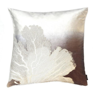 Aviva Pillow SEA FAN OMBRE SMOLDER IVOIRE