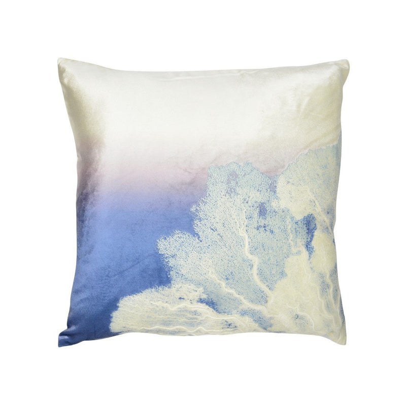 Aviva Pillow SEA FAN ON OMBRE TWILIGHT ON IVOIRE