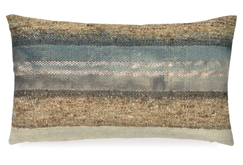 Aviva Pillow WILD SILK SLATE IN TEAL