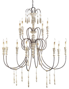 Currey & Company Chandelier Large HANNAH CHANDELIER