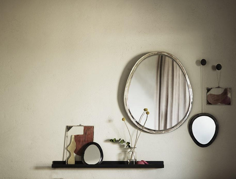 Tinekhome Oval Silver Mirror